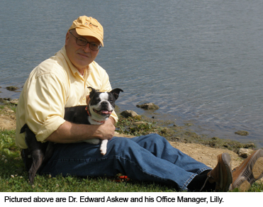 Dr Edward Askew and his Office Manager Lilly